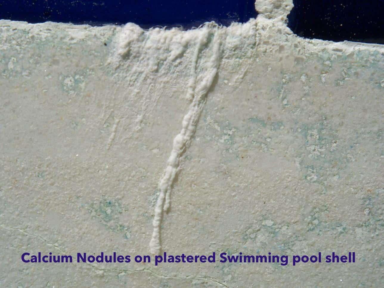 Calcium Nodules on pool surface