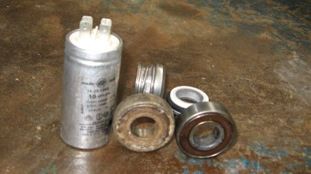 Capacitor, Bearings, Mechanical seal