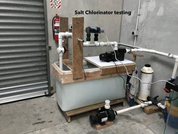 Salt Chlorinator testing