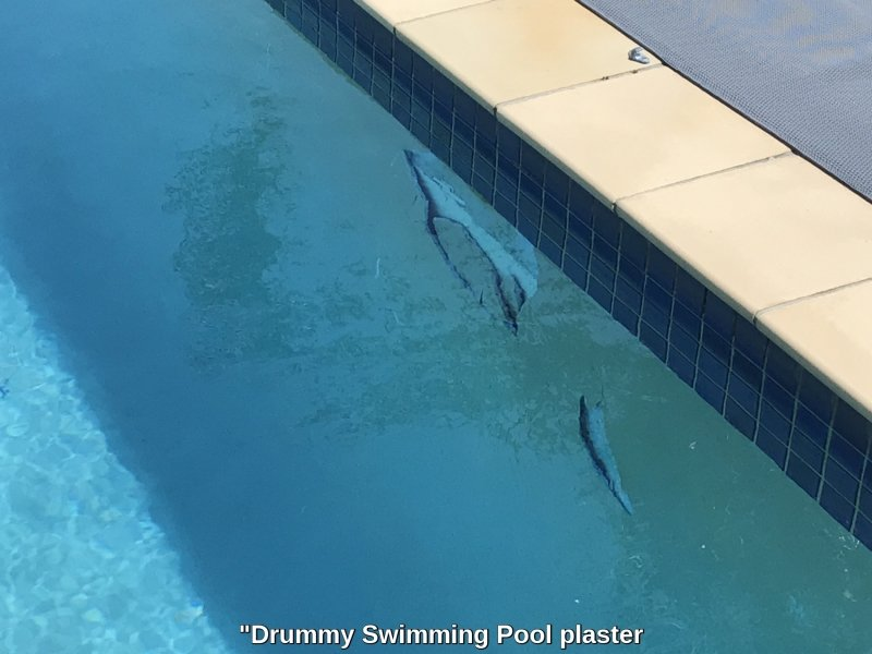 Swimming pool drummy plaster