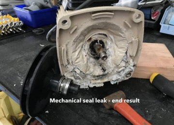 Pump leak mechanical seal