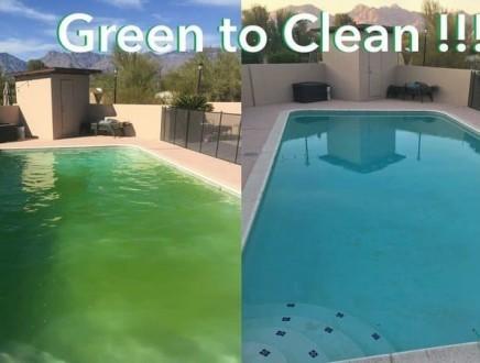 Green pool to clean pool
