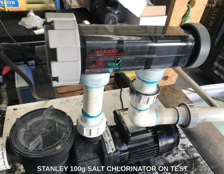 Stanley salt chlorinator on Test